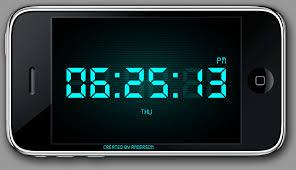 phone clock