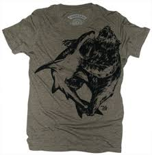 bear vs shark t shirt