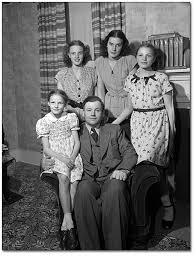 black and white family photos