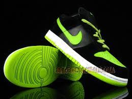 green and black nike dunks