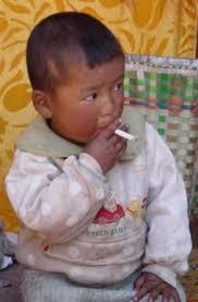 baby smoking