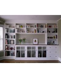 built in wall bookshelves