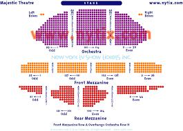 majestic theatre seating