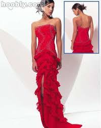 red pageant dress
