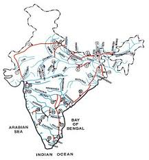 map of indian rivers