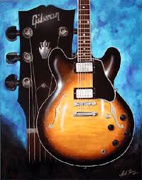 paintings of guitars