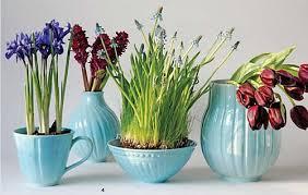 light blue vases