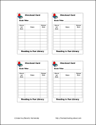 library check out cards