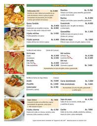 menus restaurantes