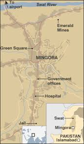 mingora pakistan map