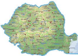 harta romaniei satelit