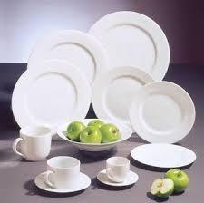white china plates