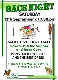 race night posters