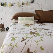 green and white comforter