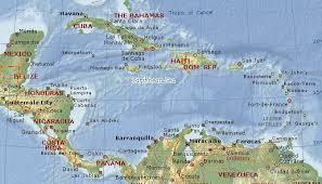 map of caribbean sea