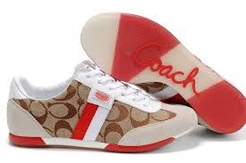 red coach shoes