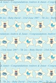 baby wrapping paper