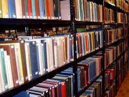pictures of books in a library