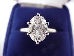oval diamond solitaire