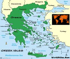 map of greek isles