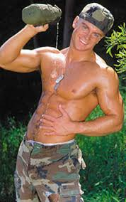 hot army man