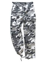 black camo trousers