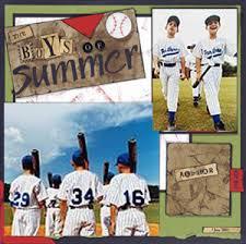 baseball scrapbook paper