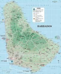 barbados tourist map