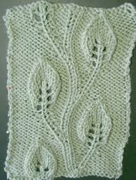 knit leaf patterns