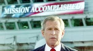 bush mission accomplished picture