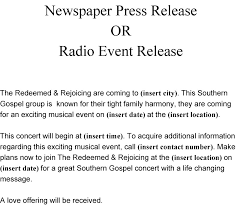 newspaper press release