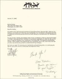 thanking letter sample