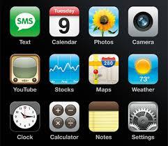 iconos del iphone