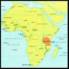 tanzania map africa