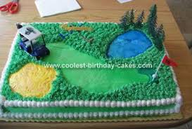golf birthday cakes