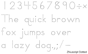 dotted fonts
