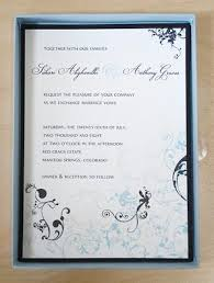 elegant wedding invite