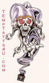 skull clown tattoos