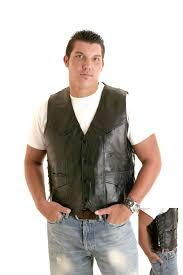 leather vests men