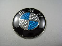 carbon bmw badge