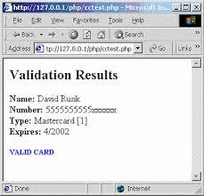 card validation