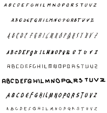 handwritten alphabets
