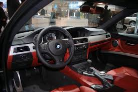bmw red leather seats