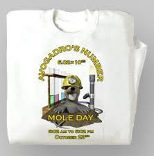 mole day t shirt