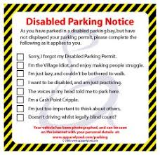 handicapped parking tickets