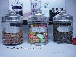 glass canister with lid