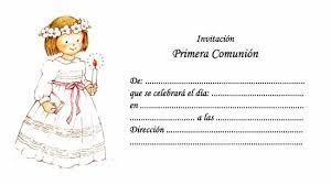 invitaciones para comunion