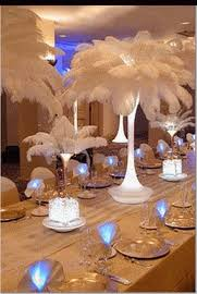 ostrich feather wedding centerpieces