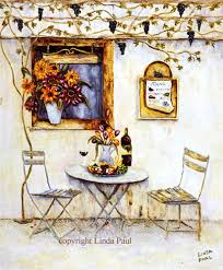 french cafe paintings