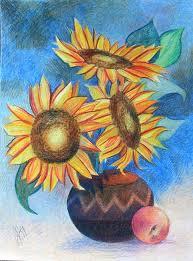 flowers pencil